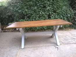 8 Seater Dining Table. Oregon. Benches, Furniture, Wooden, 12, 10, 6.