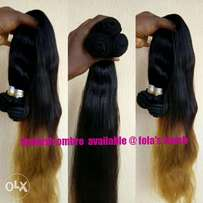 Spanish ombre long human hair weave