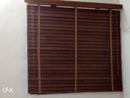 Wooden blinds, wall panel and interior deal