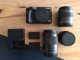 Canon EOS M3 with lens kit 18 - 55 f3.5 & 55 - 200 f4.5