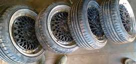 4 new 205/40/17 tyres with mags ror polo/gti