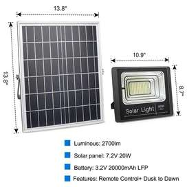led solar flood light kit