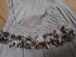 Sukienka ciążowa asymetryczna - bawełna