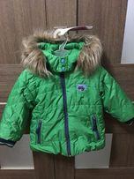 Куртка теплая на мальчика Wojcik, б/у, р/р 80 большемерит
