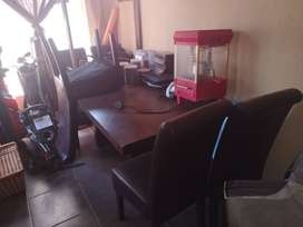 Living room table and chairs