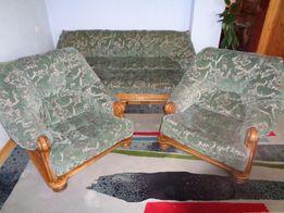 kanapa i 2 fotele - lity dąb