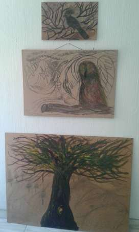 Abstract wildflife paintings