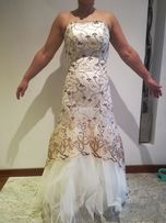Sukienka wieczorowa ślub wesele rozm. 36