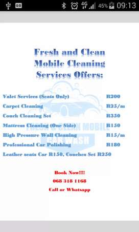 Fresh and Clean Mobile Cleaning Services