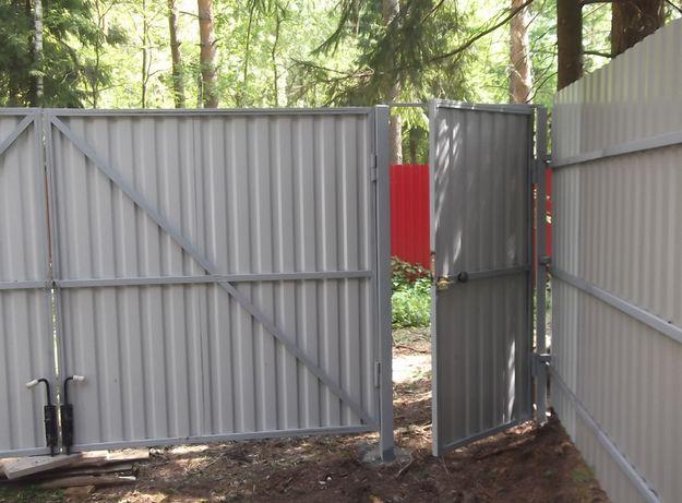 Заборы , калитки , ворота из профнастила и сетки Фастов - изображение 1