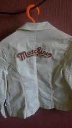 Белый пиджак для девочки Moschino, 110-125 см