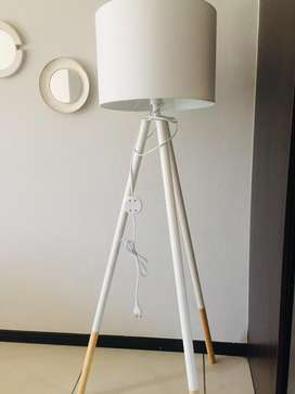 White Tripod Lamp