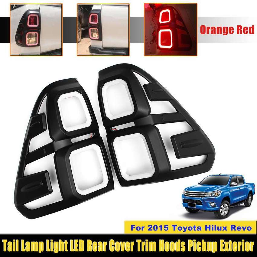 Tail Lamp Light LED Rear Cover Trim For Toyota Hilux Revo 2015 to 2018