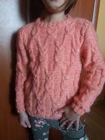 Шерстяной детский свитер из ангоры с совами(Совушки)