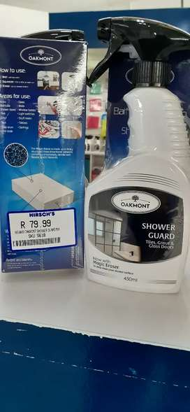 Shower guard cleaner