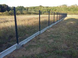 Ogrodzenie panelowe 153cm, 4mm, grafit [Ogrodzenia, słupki, panele]