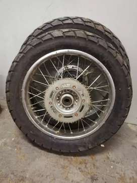Honda bross/ xr wheels and tyres