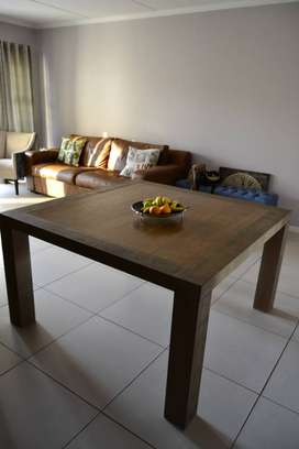 8 seater solid wood, Coricraft dining table