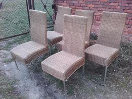 solidne krzesła ratanowe z metalową konstrukcją LETNIA PROMOCJA