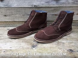 Новые KENT р 45 Испания Ботинки-Броги оксфорды мужские коричневые замш