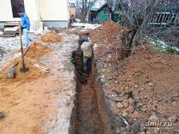 копка траншей ремонт канализации