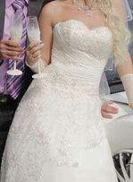 Свадебное платье. Молочный цвет. Состояние идеальное