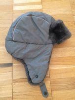 Детская зимняя шапка с мехом