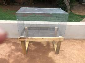 Rabbit cage with stand