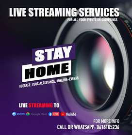 Professional live Streaming  for your events