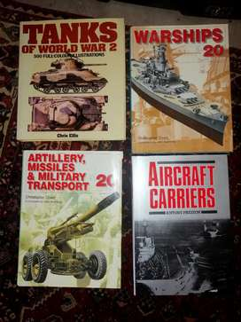 4x Large Format military weapons and transport books-R300 for all 4