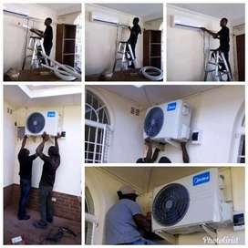 We install air conditioning , service and maintenance