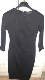 Sukienka czarna midi Zara 36