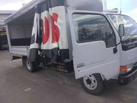 Comes with load lifter, side drops, spare wheel, curtain slides,