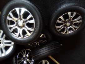 """18"""" x4 Ford Ranger rims with x4 265/60/18 new tyres for R10500."""
