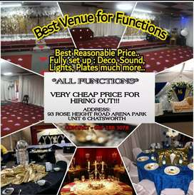 CHEAP PRICE VENUE HIRE AND HIRING OUT CATERING EQUIPMENT