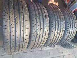 225/45/17 continental contact sports 5 for sale tyres like new