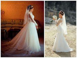 Свадебное платье -трансформер (со шлейфом)