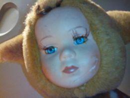 мягкая игрушка с детским лицом (тедди-долл)