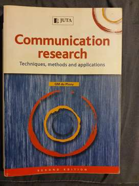 UNISA Communication Research - Techniques, Methods And Applications