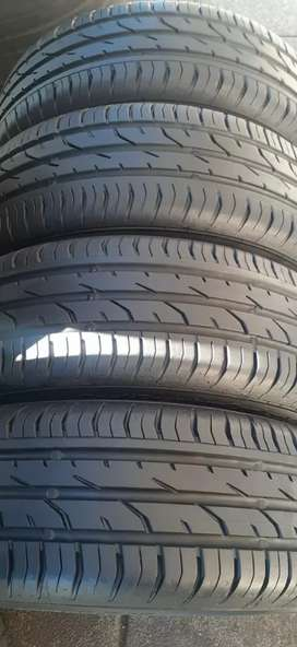 A set of 185/60/15 polo TSI mags and tyres