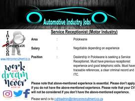 Service Receptionist (Motor Industry)