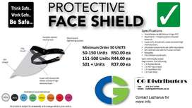 Protective face shields for sale