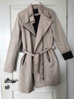 MOHITO 36 - 38 NOWY wiosenny płaszcz piaskowy elegancki