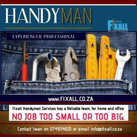 Fixall Handyman Services for house and office in Pinetown, Durban area