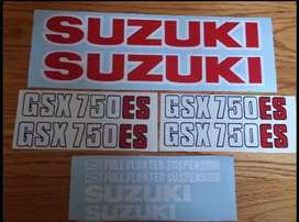 Stickers decal set for a 1983 GSX 750 ES