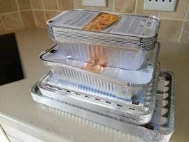 Foil trays & containers with lids