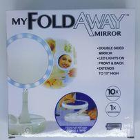 Настольное зеркало с LED подсветкой FOLD AWAY