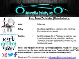 Land Rover Technician (Motor Industry)