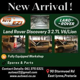 Land Rover Discovery 3 2.7L V6 Stripping For Parts AUTO EZI