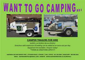 Camper Trailers for Hire